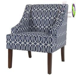 Homepop Swoop Arm Accent Chair, E Trellis