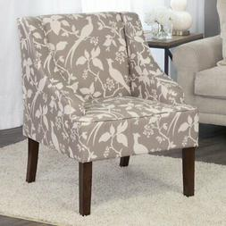 HomePop Swoop Arm Accent Chair - Gray/White
