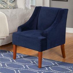 HomePop K6499-B215 Swoop Arm Accent Chair Living Room Furnit