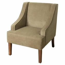 HomePop Swoop Arm Solid Accent Chair
