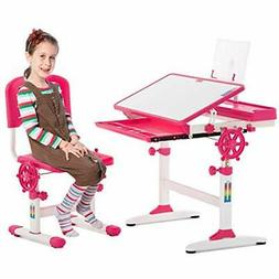 Table Chair Set With Drawer For Kids Children's Study Desk H