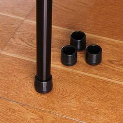Table Desk Feet Black PVC Plastic Protector Chair Leg Tip Pa