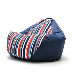 """Big Joe Outdoor 132"""" Teardrop Fiesta Cozumel Stripe Bean Bag"""