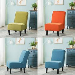 Upholstered Armless Accent Chairs Living Room Sofa Chair Din