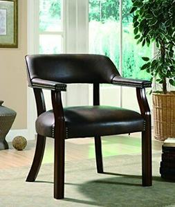 Coaster Home Furnishings Upholstered Guest Chair Brown