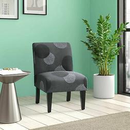 Upholstered Slipper Accent Armless Chair Bedroom Living Room