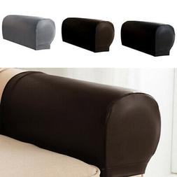 US 2 PU Leather Furniture Armrest Covers Sofa Couch Chair Ar