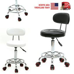 US Adjustable 360° Rotating Round Home Office Stool Chair w