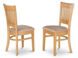 Set of 4 Vancouver dinette kitchen dining chairs with microf