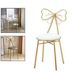 Vanity Stool Chair Gold Glam Dressing Room Make-up Padded St