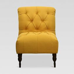Vaughn Upholstered Chair Solids Gold Sterling French Yellow