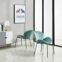Velvet Accent Chair Large Fabric Leisure Chair for Living Ro
