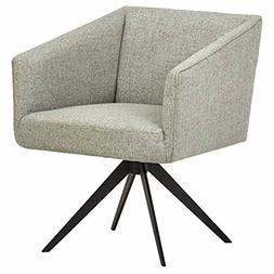 "Rivet Vibe Swivel Fabric Office Chair, 25.2""W, Light Grey"
