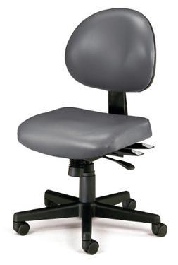 OFM 24-Hour Vinyl Multi-Adjustable Armless Task Chair, Charc