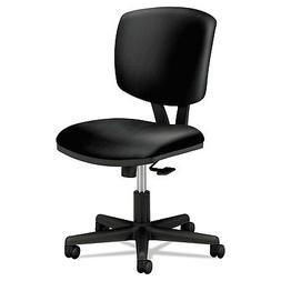 Volt Series Task Chair with Synchro-Tilt, Black Leather