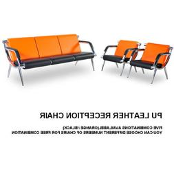 Waiting Room Chair PU Leather Reception Office Airport Bank