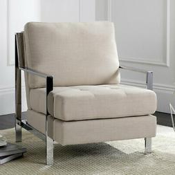 Safavieh Walden Modern Tufted Linen Accent Chair