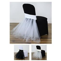 Wedding Party Stretchy Spandex Fitted Tulle Tutu Chair Skirt