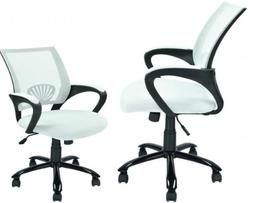 White Ergonomic Mesh Computer Office Desk Task Chair w/Metal