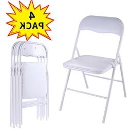 White Set of 4PCS Commercial Plastic Folding Chairs Wedding