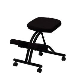 Flash Furniture Mobile Ergonomic Kneeling Chair in Black Fab