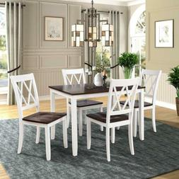 Wood Dining Room Table Kitchen Set For 4, And Chairs Include