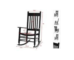 Wooden Rocking Chair Indoor Outdoor Solid Wood Rocker Porch