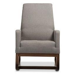 Yashiya Mid Century Retro Modern Fabric Upholstered Rocking