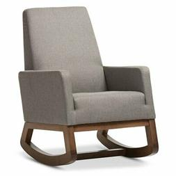 Baxton Studio Yashiya Mid-century Retro Modern Rocking Chair