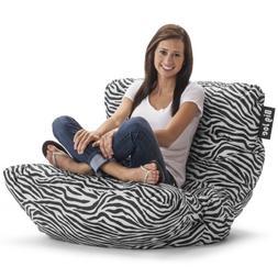 Zebra Big Joe Roma Bean Bag Chair Zebra Brand New